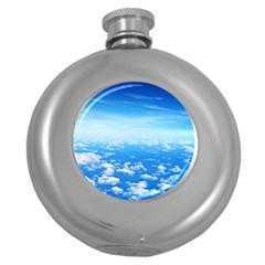 Clouds Round Hip Flask (5 Oz) by trendistuff
