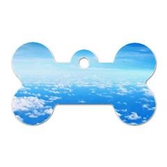Clouds Dog Tag Bone (one Side) by trendistuff