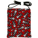 Cute Skeleton Pattern Shoulder Sling Bag
