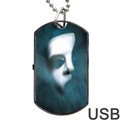 Phantom Mask Dog Tag Usb Flash (two Sides)  by girlwhowaitedfanstore