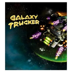 Galaxytrucker Variant  By Thomas Covert   Drawstring Pouch (large)   F6ei17bejfwy   Www Artscow Com Front