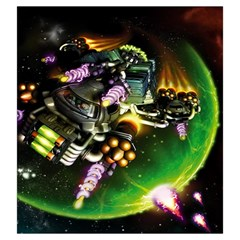 Galaxytrucker Variant  By Thomas Covert   Drawstring Pouch (large)   F6ei17bejfwy   Www Artscow Com Back