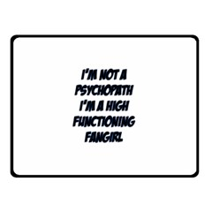 High Functioning Fangirl Fleece Blanket (small) by girlwhowaitedfanstore