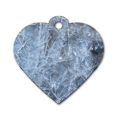 Watery Ice Sheets Dog Tag Heart (two Sides) by trendistuff