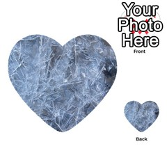 Watery Ice Sheets Multi Purpose Cards (heart)  by trendistuff