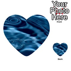 Water Ripples 1 Multi Purpose Cards (heart)