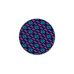 Pink And Blue Shapes Pattern Golf Ball Marker (4 Pack) by LalyLauraFLM