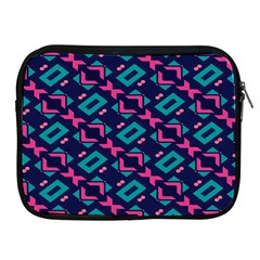 Pink And Blue Shapes Pattern Apple Ipad 2/3/4 Zipper Case by LalyLauraFLM