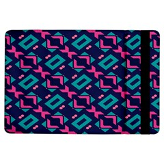 Pink And Blue Shapes Pattern	apple Ipad Air Flip Case by LalyLauraFLM