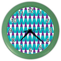 Peaks Pattern Color Wall Clock by LalyLauraFLM