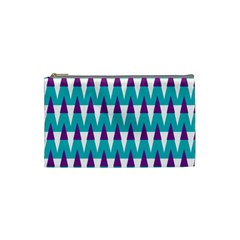Peaks Pattern Cosmetic Bag (small) by LalyLauraFLM