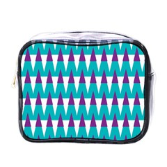 Peaks Pattern Mini Toiletries Bag (one Side) by LalyLauraFLM