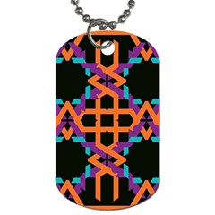 Juxtaposed Shapes Dog Tag (two Sides) by LalyLauraFLM