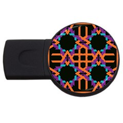 Juxtaposed Shapes Usb Flash Drive Round (2 Gb) by LalyLauraFLM