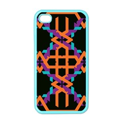 Juxtaposed Shapes Apple Iphone 4 Case (color) by LalyLauraFLM