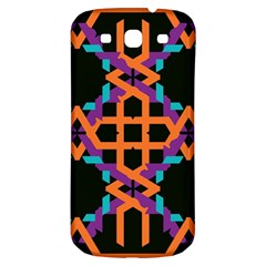 Juxtaposed Shapes Samsung Galaxy S3 S Iii Classic Hardshell Back Case by LalyLauraFLM