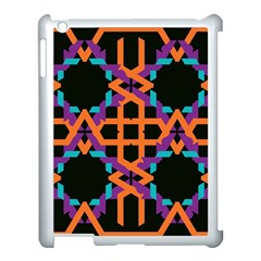 Juxtaposed Shapes Apple Ipad 3/4 Case (white) by LalyLauraFLM