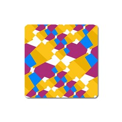Layered Shapes Magnet (square) by LalyLauraFLM