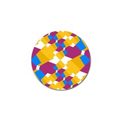 Layered Shapes Golf Ball Marker (4 Pack) by LalyLauraFLM