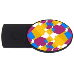 Layered Shapes Usb Flash Drive Oval (4 Gb) by LalyLauraFLM
