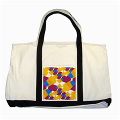 Layered Shapes Two Tone Tote Bag by LalyLauraFLM
