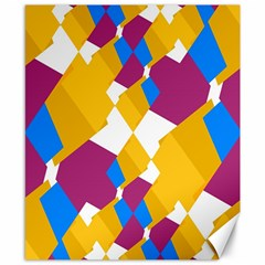 Layered Shapes Canvas 8  X 10  by LalyLauraFLM