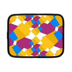 Layered Shapes Netbook Case (small) by LalyLauraFLM
