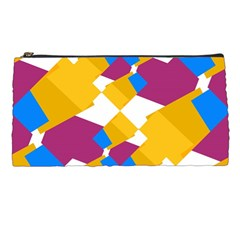 Layered Shapes Pencil Case by LalyLauraFLM