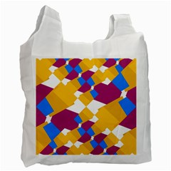 Layered Shapes Recycle Bag (two Side) by LalyLauraFLM