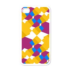 Layered Shapes Apple Iphone 4 Case (white) by LalyLauraFLM
