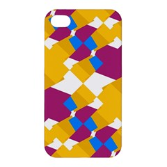 Layered Shapes Apple Iphone 4/4s Premium Hardshell Case by LalyLauraFLM