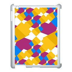 Layered Shapes Apple Ipad 3/4 Case (white) by LalyLauraFLM