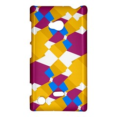 Layered Shapes Nokia Lumia 720 Hardshell Case by LalyLauraFLM