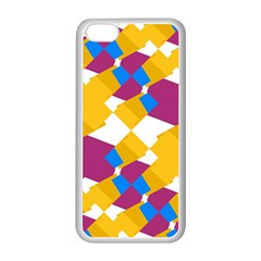 Layered Shapes Apple Iphone 5c Seamless Case (white) by LalyLauraFLM