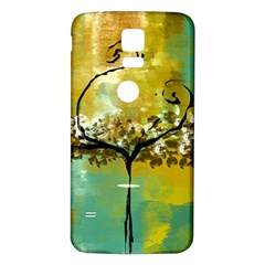 She Open s To The Moon Samsung Galaxy S5 Back Case (white) by theunrulyartist