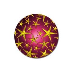 Star Burst Magnet 3  (round) by essentialimage