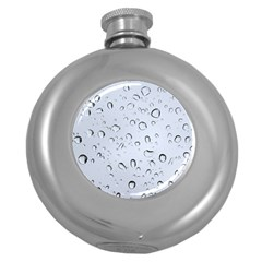 WATER DROPS 2 Round Hip Flask (5 oz) by trendistuff