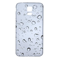 Water Drops 2 Samsung Galaxy S5 Back Case (white) by trendistuff