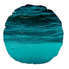 Underwater World Large 18  Premium Round Cushions by trendistuff