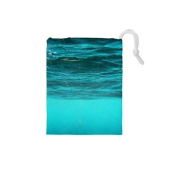 Underwater World Drawstring Pouches (small)  by trendistuff