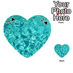 Turquoise Water Playing Cards 54 (heart)