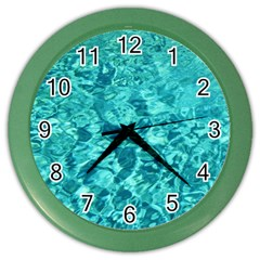 Turquoise Water Color Wall Clocks by trendistuff