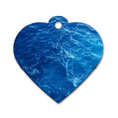 Pacific Ocean Dog Tag Heart (one Side) by trendistuff