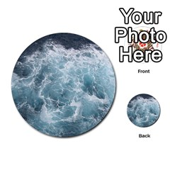 Ocean Waves Multi Purpose Cards (round)  by trendistuff