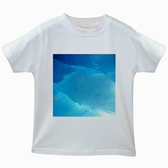 Light Turquoise Ice Kids White T Shirts by trendistuff