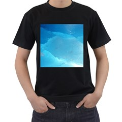 Light Turquoise Ice Men s T Shirt (black) by trendistuff