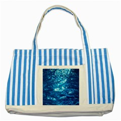 Light On Water Striped Blue Tote Bag  by trendistuff