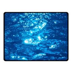 LIGHT ON WATER Double Sided Fleece Blanket (Small)  by trendistuff