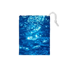Light On Water Drawstring Pouches (small)  by trendistuff