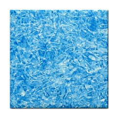 Blue Ice Crystals Tile Coasters by trendistuff